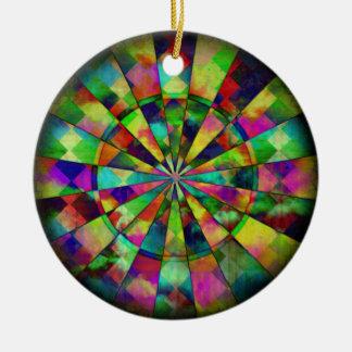 Colores psicodélicos por Valxart.com Adorno Navideño Redondo De Cerámica