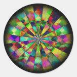 Colores psicodélicos por Valxart.com Pegatina Redonda