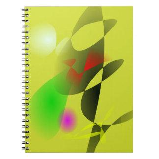 Colores que ponen en contraste libreta
