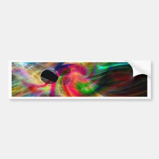 colores radiantes abstractamente etiqueta de parachoque