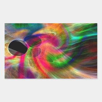 colores radiantes, abstractamente pegatina rectangular