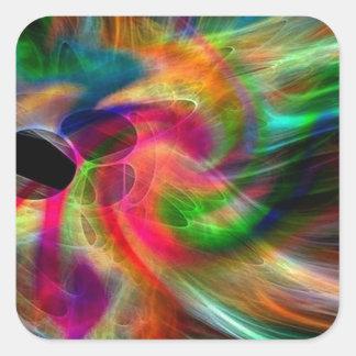 colores radiantes, abstractamente pegatina cuadrada