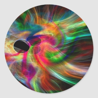 colores radiantes, abstractamente pegatina redonda