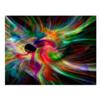 colores radiantes, abstractamente postal