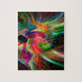 colores radiantes, abstractamente puzzles con fotos