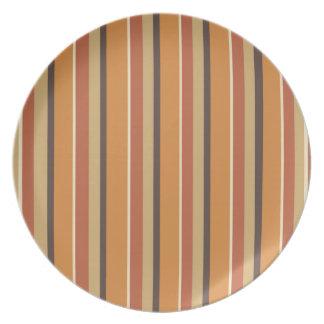 Colores rayados de la especia de la calabaza del plato de comida