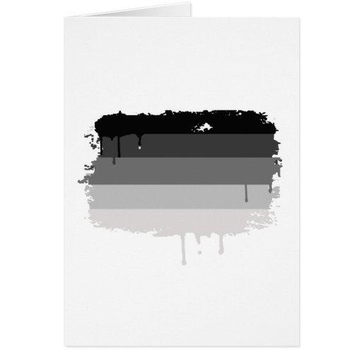 Colores rectos del orgullo tarjeta