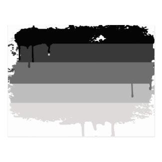 Colores rectos del orgullo postales
