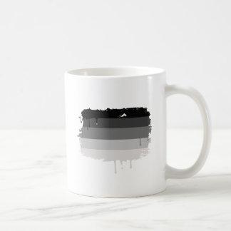 Colores rectos del orgullo taza básica blanca