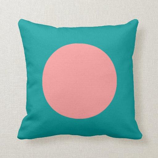 Colores redondos - suavemente rosa y verde del océ cojines