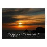 colores reservados de la puesta del sol felicitación
