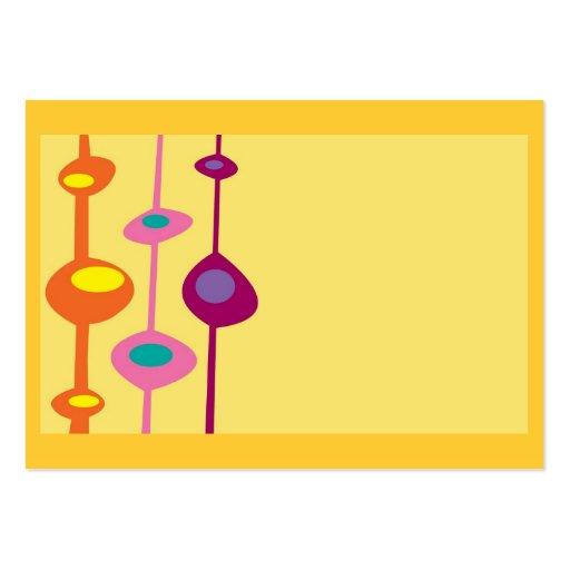 colores retros del caramelo de la fruta cítrica de plantillas de tarjetas de visita