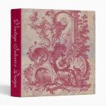 """Colores rojos de Toile Pompeya del vintage francés Carpeta 1"""""""