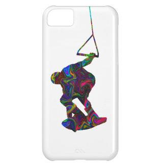 Colores salvajes del Wakeboarder Funda iPhone 5C