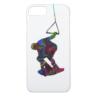 Colores salvajes del Wakeboarder Funda iPhone 7