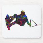 Colores salvajes del Wakeboarder Tapete De Ratones