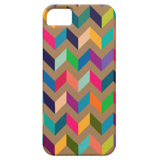 Colores salvajes del zigzag de Chevron de color ca iPhone 5 Cobertura
