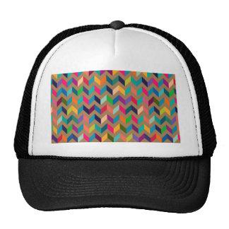Colores salvajes del zigzag de Chevron de color ca Gorros Bordados