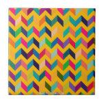 Colores salvajes del zigzag fresco de Chevron Azulejo Cerámica