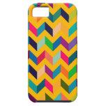 Colores salvajes del zigzag fresco de Chevron iPhone 5 Cárcasa