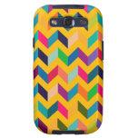 Colores salvajes del zigzag fresco de Chevron Galaxy S3 Carcasa