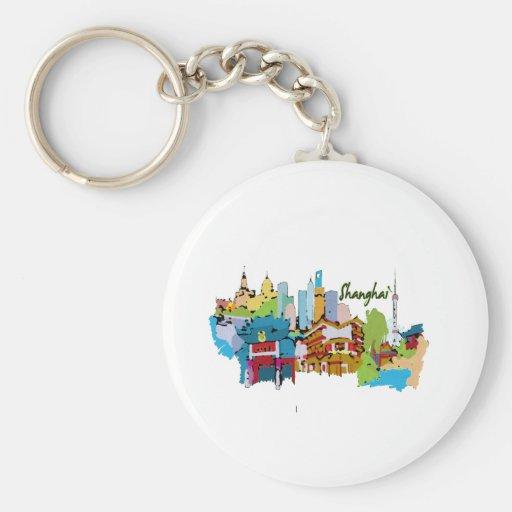 colores silenciados watercolored ciudad design.png llavero redondo tipo pin