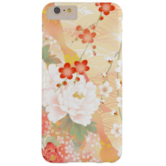 Colores suaves florales japoneses del acento funda para iPhone 6 plus barely there