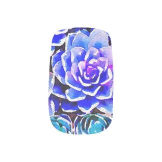Colores suculentos pegatinas para manicura