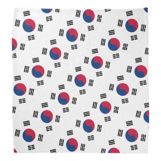 Colores surcoreanos del pañuelo el | de la bandera bandanas