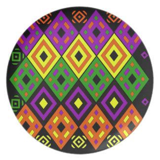 Colores temáticos del sudoeste plato de cena