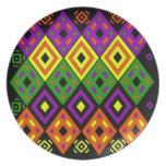 Colores temáticos del sudoeste platos de comidas