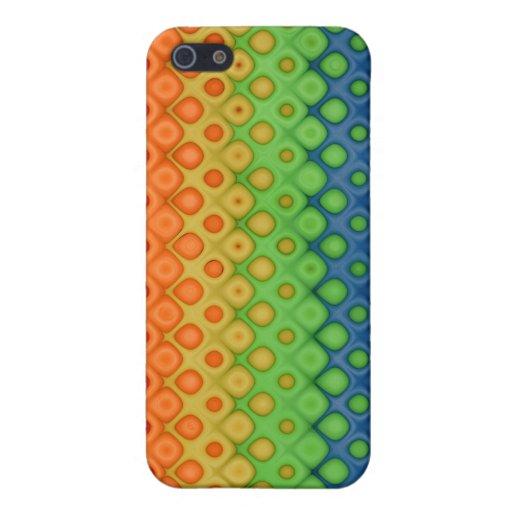 Colores torcidos burbujas del arco iris de ROYGBIV iPhone 5 Carcasa