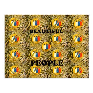 Colores tradicionales africanos del adorno de la tarjetas postales