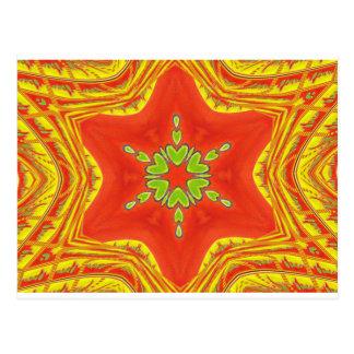 Colores tradicionales africanos rojos de oro tarjetas postales