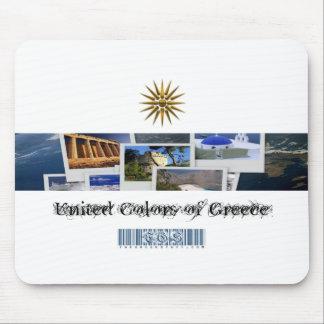 Colores unidos de Grecia Tapete De Raton