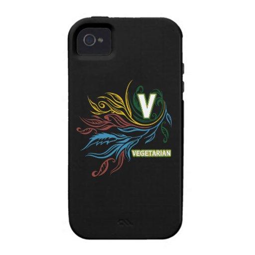 Colores vegetarianos que fluyen vibe iPhone 4 carcasa
