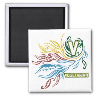 Colores vegetarianos que fluyen imán para frigorifico