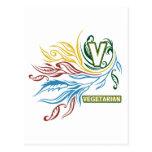 Colores vegetarianos que fluyen postales