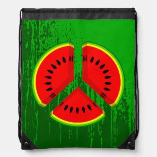 Colores vibrantes de la paz de la sandía mochilas