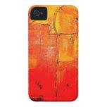 Colores vibrantes de la pintura única abstracta an iPhone 4 protectores