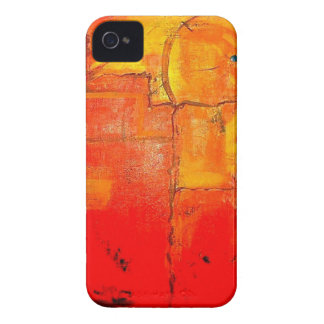 Colores vibrantes de la pintura única abstracta iPhone 4 Case-Mate carcasa