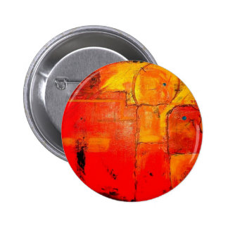 Colores vibrantes de la pintura única abstracta pin redondo de 2 pulgadas