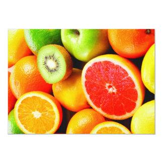 """Colores vibrantes de los agrios invitación 5"""" x 7"""""""