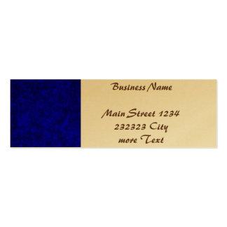 Colores vivos, profundamente azul tarjetas de visita mini