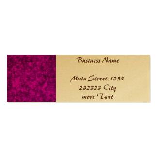 Colores vivos, rosa púrpura tarjetas de visita mini