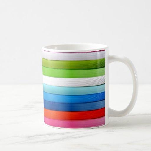 Colores vivos tazas de café