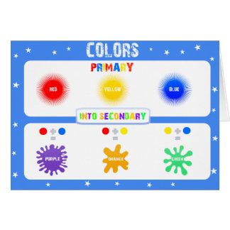 Colores y aprendizaje - tarjetas