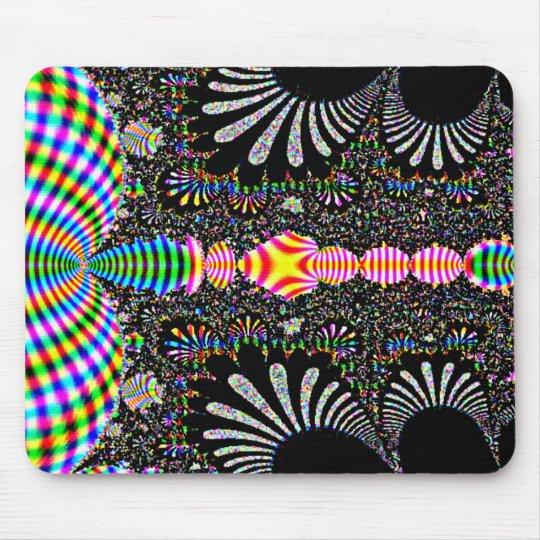 Colores y arte abstracto del negro tapete de ratón
