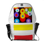 Colores y carrito de las rayas bolsas de mensajería