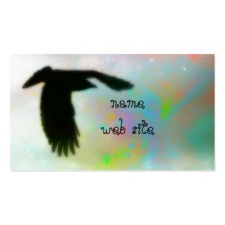Colores y cuervo de Swirly Tarjetas De Visita